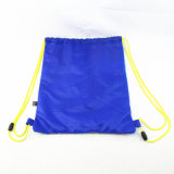 Caractère Polyester sac à dos Sac avec lacet de serrage