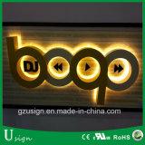 Muestras al aire libre del alto de Luminunce Lit Gold-Plated impermeable LED del acero inoxidable #304 detrás