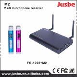 M2 2.5g Système audio récepteur de microphone à double passe pour l'enseignement