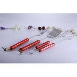 Горячая продажа 3PCS барбекю инструменты ручки из красного дерева с белой точки