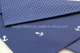 Атласный заклепку Polka печать хлопчатобумажной ткани для Чино