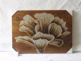 Il garofano romantico ha fiorito famiglia che naturale Three-Piece di disegno del Tan il ristorante decora la pittura della tela di canapa