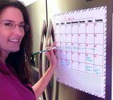 Стикер календара магнита доски для сообщений магнита холодильника декоративный