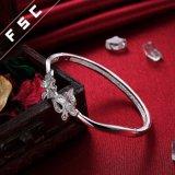Pulsera bonita del brazalete de la mariposa del doble de la joyería de la manera hecha con la CZ