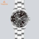 Color azul acero Stailess reloj submarino, luminoso día de la fecha de 24 horas Ver 72385