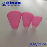 Bottiglia portatile del gel del silicone delle 2017 estetiche di colore rosa caldo di vendita