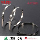 Застежка-молния нагих обручей связи шарового затвора стальных стальная связывает стальные связи кабеля