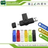 자유로운 로고 비틀어진 사람 OTG USB 섬광 드라이브 USB 지팡이