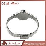 Große runde Vorwahlknopf-Form-Edelstahl-Quarz-Armbanduhr