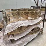 صنع وفقا لطلب الزّبون فنيّة أثاث لازم نوع ذهب لون [ستينلسّ ستيل] صغيرة طاولة جانب طاولة