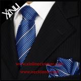 Quadrado Pocket de seda tecido Mens da forma elevada com gravata de harmonização