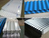 Feuille enduite en acier ondulée de toit de feuille de toiture/en métal de couleur