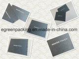 Черная ткань чистки стекел Microfiber с белым логосом