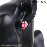 92530 joyería de moda Rose plateó cristales oculares Tear pendiente de los pernos prisioneros