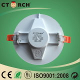 Lâmpada redonda plástica magro de Ceing da luz de painel de Ctorch 12W