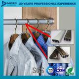 Profil T5 en aluminium de l'extrusion 6063 pour l'ovale personnalisé Rod de tube de garde-robe