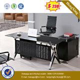 黒いデスクトップの安定した構造の執行部の机(NS-GD031)