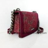 Elegant Ontwerp Handtassen van het Leer van Dame PU de Canvas Geborduurde Ketting (nmdk-032905)