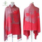 2017 новых печатных Pashmina Peony шаль из жаккардовой ткани моды Шарфа
