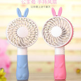 Ventilateur maniable de ventilateur portatif de princesse Rabbit Mini USB Hand-Held