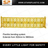 Gelber beweglicher Plastikverkehrs-Zaun, expandierbare Sperre