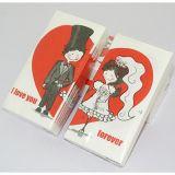 ハンカチーフの結婚式のServietteの誕生会のための印刷された赤い愛中心の花嫁の新郎のトイレットペーパー