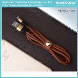 2017 caractéristiques USB2.0 en cuir et câble de remplissage pour iPhone5 5s 6 6s 7