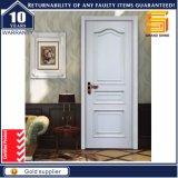 Porte intérieure intérieure stratifiée par PVC extérieure en bois solide