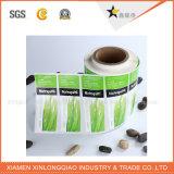 Hoja de la etiqueta engomada adhesiva de papel personalizado baratos poliéster impresión Impresora de etiquetas