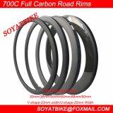 Soyatbikeカーボン自転車の縁の道のバイクは縁の管状のクリンチャーの道OEMの中国の工場自転車の縁の玄武岩のブレーキがかかる表面30/38/50/60/88/90mmを動かす