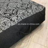 Ammortizzatore del sofà del materasso della base del gatto del cane di animale domestico della gomma piuma di stampa lavabile durevole di rettangolo grande