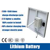 Material do corpo da lâmpada de alumínio 12V 30AH Bateria de Lítio luzes da rua Solar com braços duplos