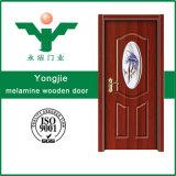 Porta interior da melamina barata do preço em Zhejiang, China