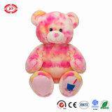 Het Kerstmis Afgedrukte Stuk speelgoed van de Teddybeer van de Zitting van de Pluche van de Stof Dierlijke Zachte