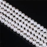 Perla de agua dulce de calidad AAA 5 mm 6 mm forma de patata perla filamento