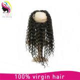 Remy brasileño del cabello humano 360 frontal del cordón cierre de la goma
