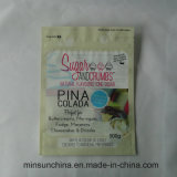 Мешок замка застежка-молнии раговорного жанра для упаковки еды сахара пластичной