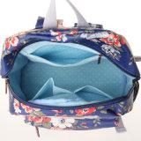 Rétro sac floral imperméable à l'eau de petite taille de sac à dos de toile de PVC (23280)