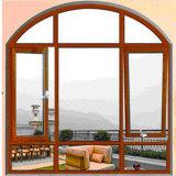 Aluminiumrahmen-Glasflügelfenster-Fenster-Entwurf mit dekorativem Gitter und örtlich festgelegter Bogen-Oberseite