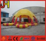 販売のためのテントが付いている膨脹可能なプール