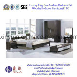 China-Schlafzimmer-Möbel-König Size Bed mit PU-Leder (703A#)