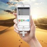 Lecteur de carte Microsd 4 en 1 Metal OTG pour iPhone Lightning + Type-C + Micro USB + USB (YT-R010)