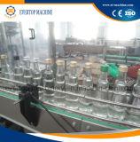 Glasflaschen-füllende und mit einer Kappe bedeckende Maschine