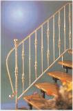 Haohan modificó la barandilla de acero galvanizada decorativa residencial elegante 2 de la escalera para requisitos particulares