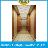 Levage luxueux de passager de la capacité 1150kg de Fushijia avec l'étage de marbre