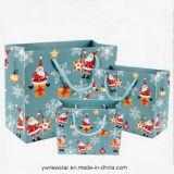 La moda de alta calidad con mango de la bolsa de regalo de Navidad