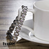 Trendy Stainless Steel with Crystal for Health Benefit (10090)