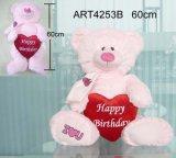 Cadeau de décoration joyeux anniversaire ours rose