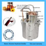 18L Hydrolatの抽出機械蒸留器5galの水蒸気蒸留の銅の醸造物のやかん