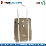 Bolso de empaquetado de papel del bolso de compras con el encierro del botón